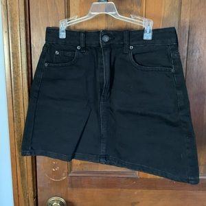 Bershka black denim mini skirt Size: 2